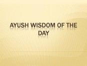 AYUSH WISDOM