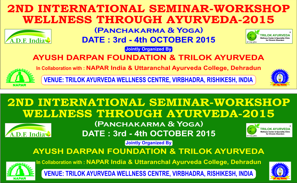 First Time an International Ayurveda Seminar in the Side of